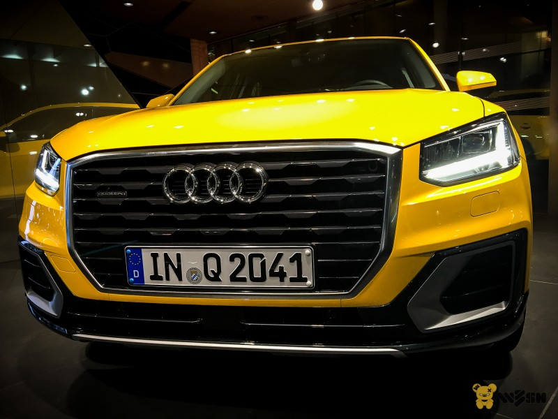 some more pictures of the audi q2 in yellow audi q2 forums. Black Bedroom Furniture Sets. Home Design Ideas