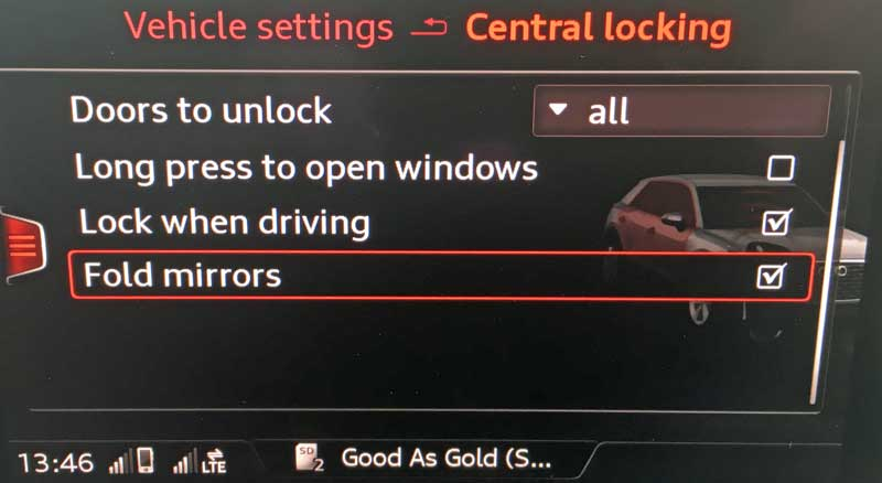 Folding wing mirrors - Audi Q2 Forums